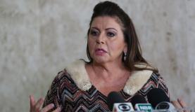 Brasília - Governadora de Roraima, Suely Campos, fala à imprensa após reunião com o presidente Michel Temer, no Palácio do Planalto (Antonio Cruz/Agência Brasil)