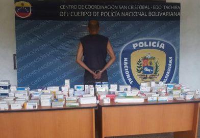 Táchira: Sujeto es capturadopor venta ilícita y contrabando de medicamentos