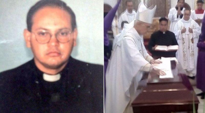El P. José Luis Jaimes / La Misa de Exequias presidida por Mons. Mario Moronta. Fotos. Twitter Diócesis de San Cristóbal