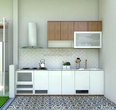 Kitchenset Dapur Kotor Ibu Aci di Bintaro