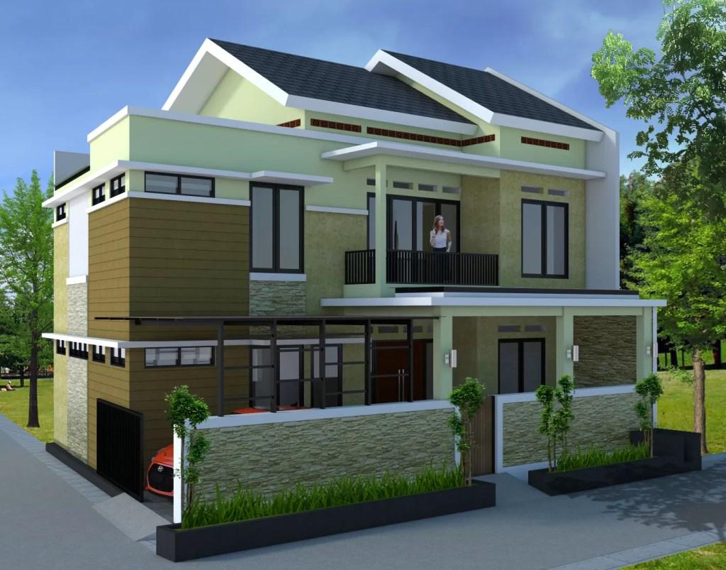 Gambar Arsitektur Desain Rumah Hook Hoek 2 Lantai