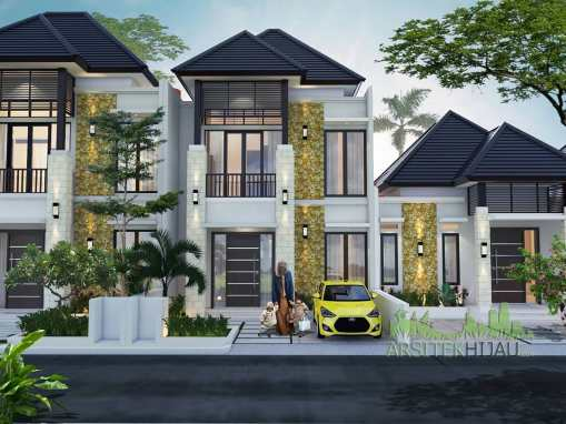 Desain Rumah 1 2 Lantai Bali Tropical Residence Bintaro