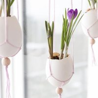 Makramee Ostereier - Fensterdekoration für Ostern