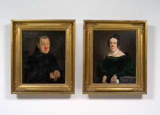 Hans-Peter Feldmann, Husband and Wife each with Red Nose.