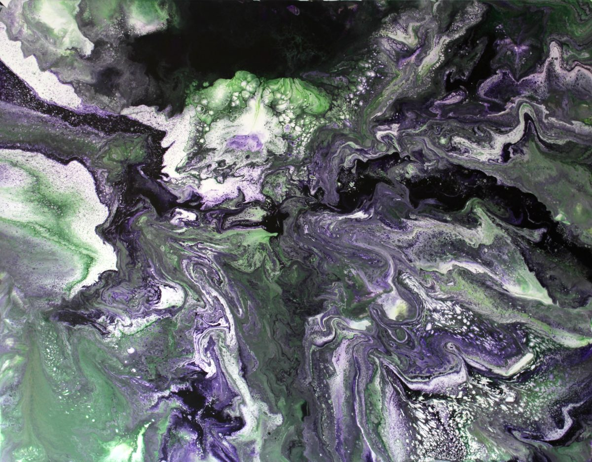 illusion fluid abstract painting