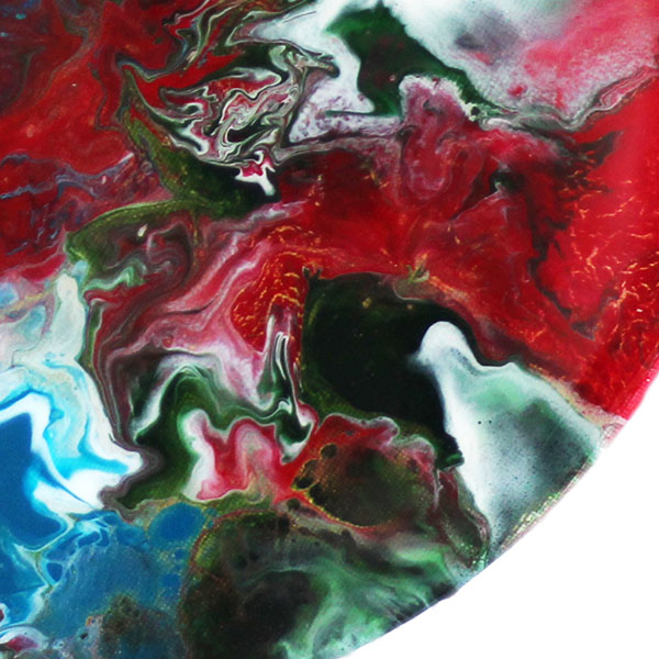 abstract rond schilderij psyched detail