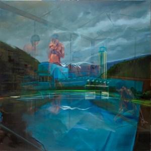 23 - Masmonteil Olivier - Baigneuse sur la fontaine river 200 x 200