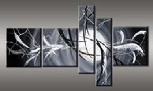 tableaux abstrait gris blanc pur