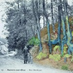 Composite image of postcard and Van Gogh painting