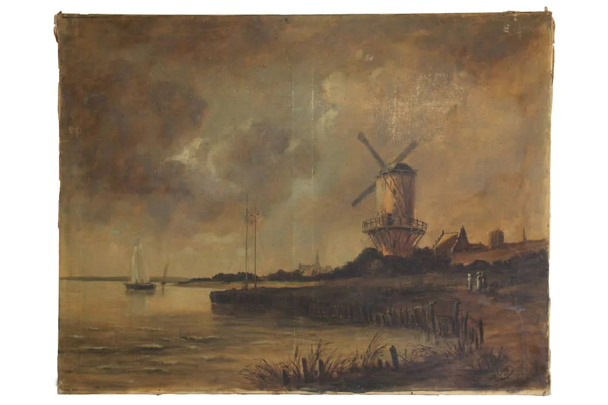 painting of a windmill along a river by van gogh art world roundup