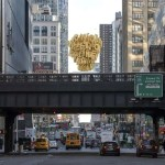 High Line Plinth submission of a bluster of gold balloons