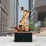 High Line Plinth submission of a toppling stone structure