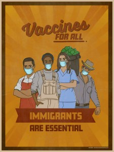 Poster for the Amplifier #Vaccinated campaign Art World Roundup