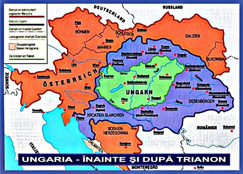 Imagini pentru ungaria inainte si dupa trianon harta