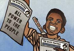 Black panther graphic, by Emory Douglas