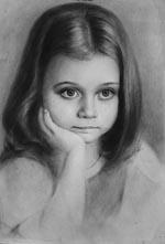 Портреты сухая кисть на сайте художников.