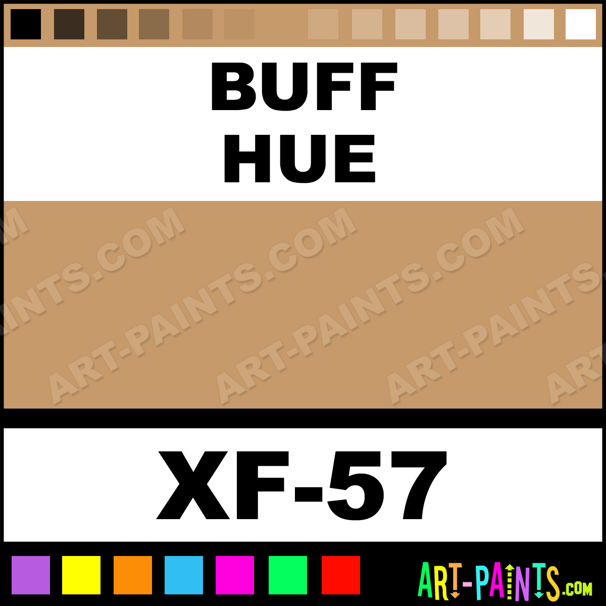 Buff Color Acrylic Paints XF 57 Buff Paint Buff Color