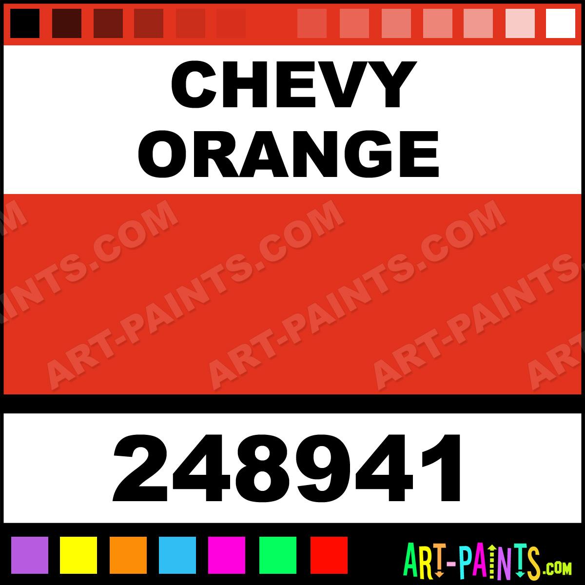 Chevy Orange Paint Brush