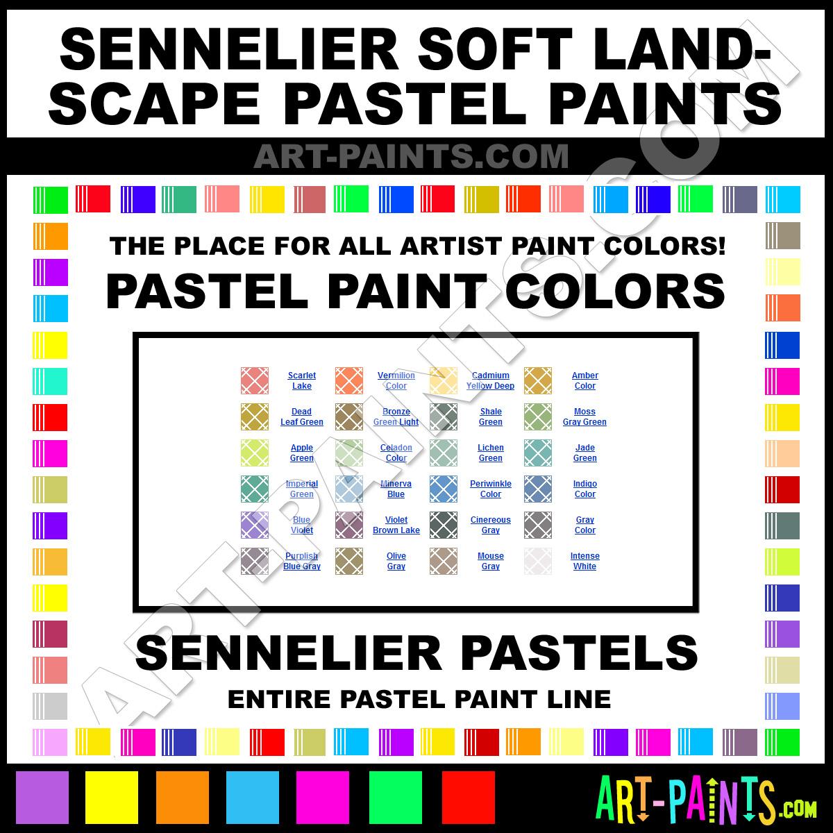 Sennelier Oil Pastels Color Chart