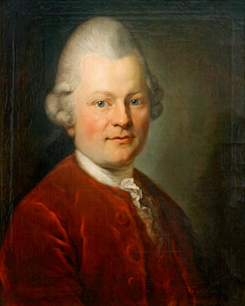Gotthold Ephraim Lessing - (after) Anton Graf as art print ...