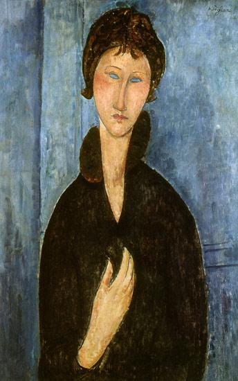 Femeia cu ochii albastri