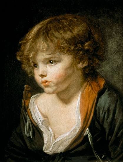 Jean Baptiste Greuze - A Blond Haired Boy with an Open Shirt