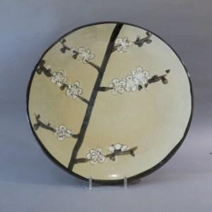 香月泰男 梅の絵皿