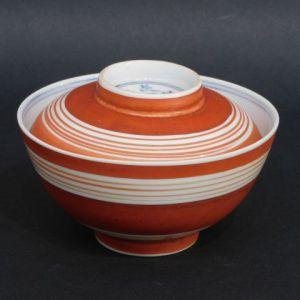 北大路魯山人 赤絵蓋茶碗