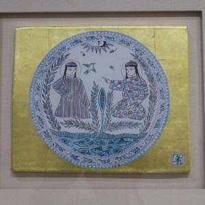 加藤卓男 波斯色絵陶板