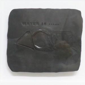 八木一夫 黒陶陶板