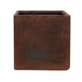 Pot square rusty