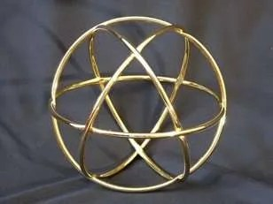 Spherical Sacred Geometry Handcrafted in Copper