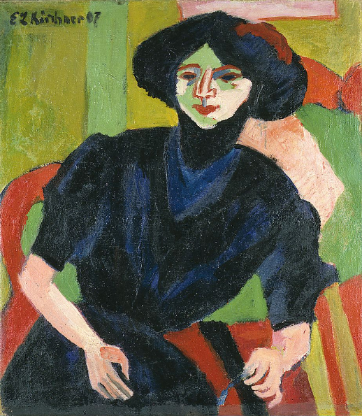 Ernst_Ludwig_Kirchner_-_Portrait_of_a_Woman
