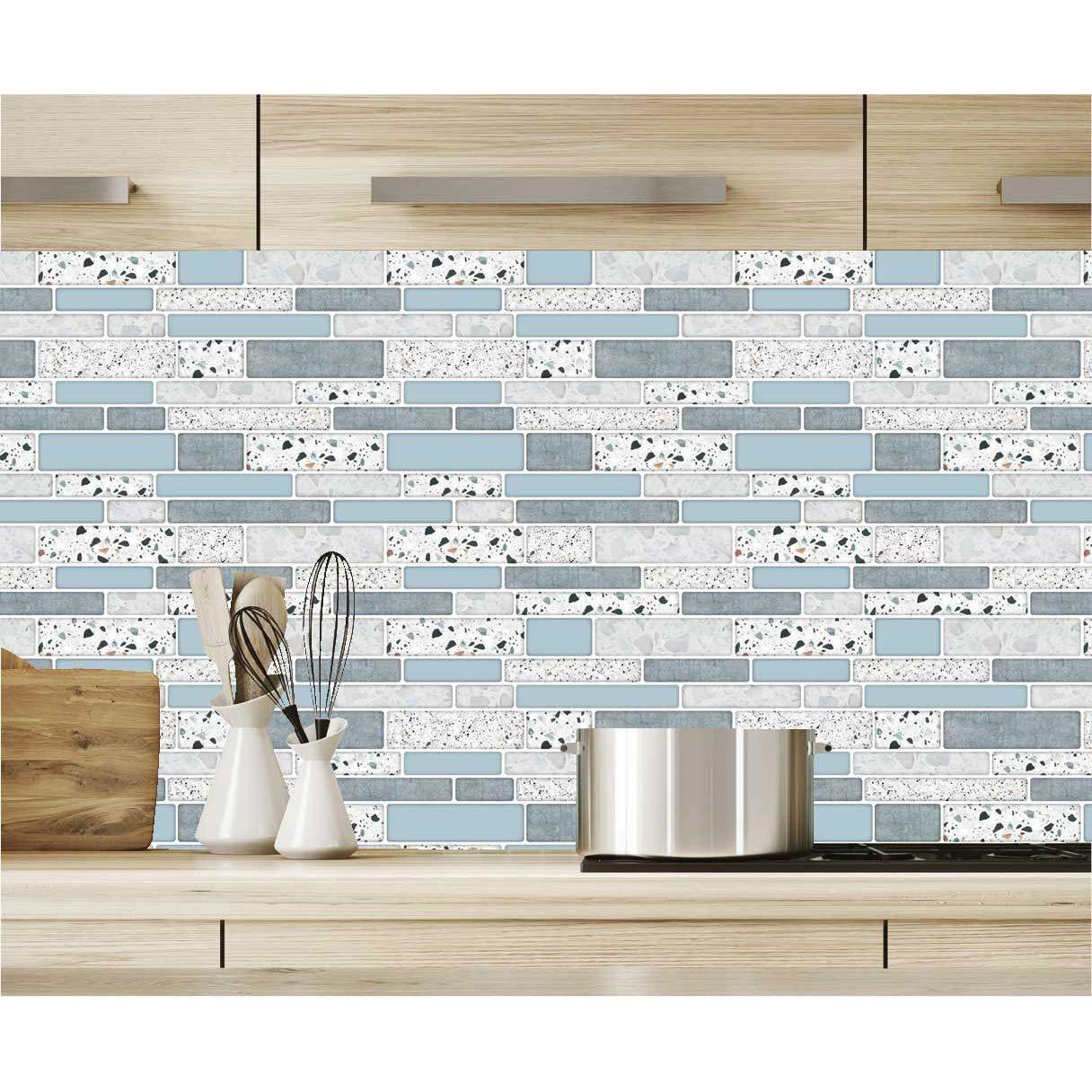 a17020 10 sheet peel and stick backsplash tile for kitchen in stone design
