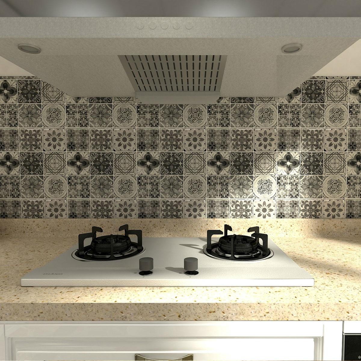 a17062 10 sheets peel and stick backsplash tile for kitchen gray talavera mexican tile