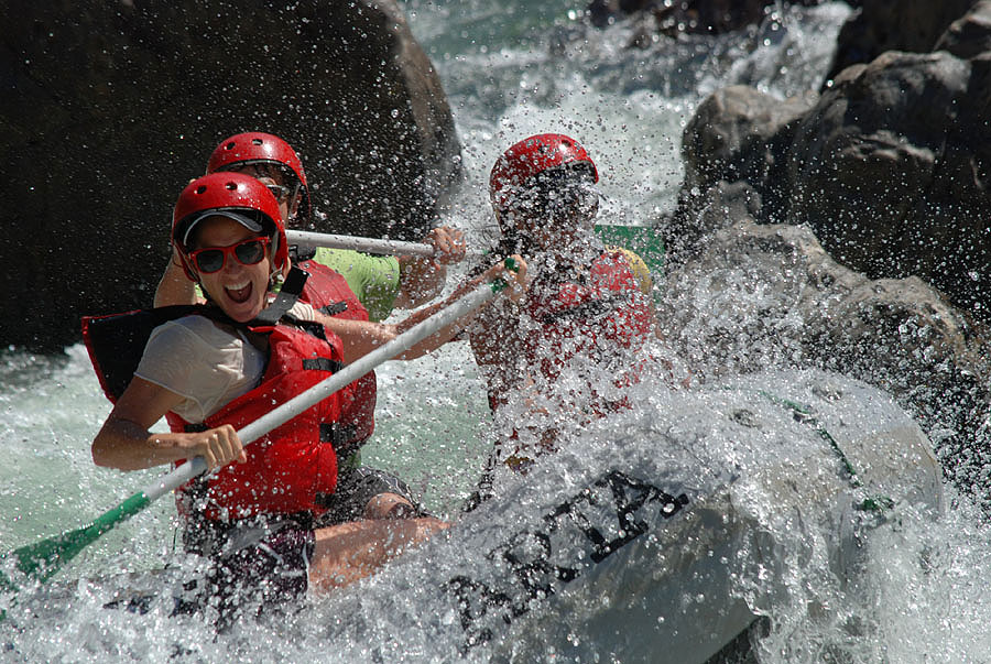 A big splash on the Tuolumne River