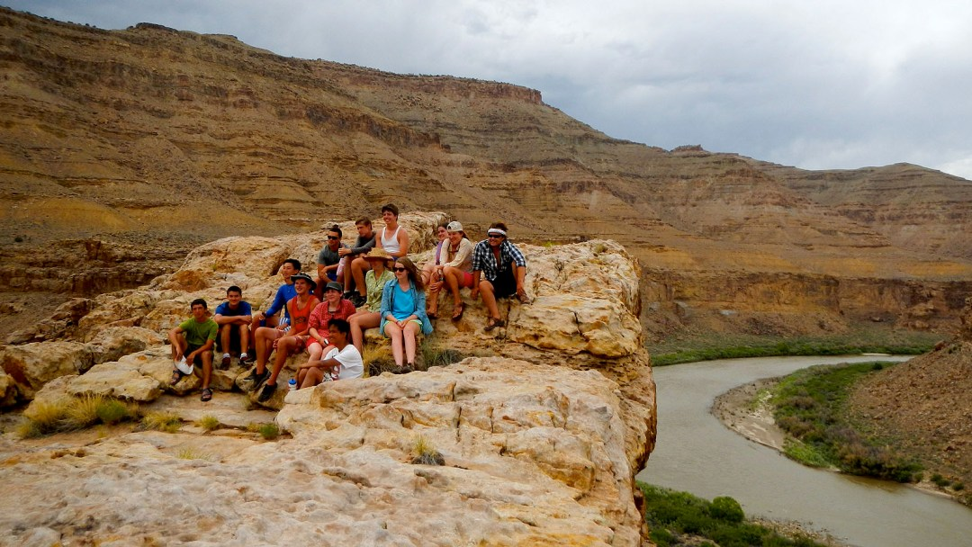 Junior Whitewater School students pause during a hike on the Green River through Desolations Canyon