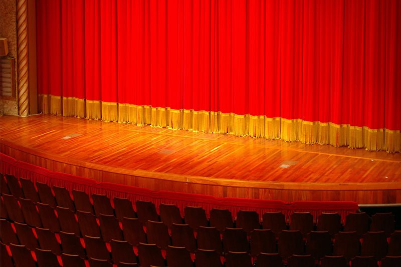 A photo of a stage.