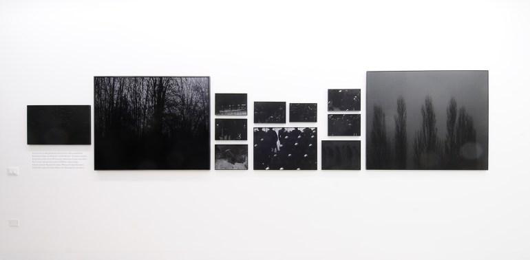 "Mustafa Sabbagh: kudurru, 2018 - installation view | ""Black"", Paolo Maria Deanesi Gallery - Trento | courtesy Paolo Maria Deanesi Gallery - Trento"