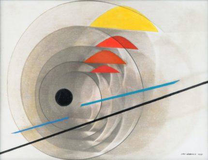 LUIGI VERONESI, Composizione, 1938 - olio e fotogramma su tela, 30x40 cm | Courtesy Galleria 10 A.M. Art, Milano