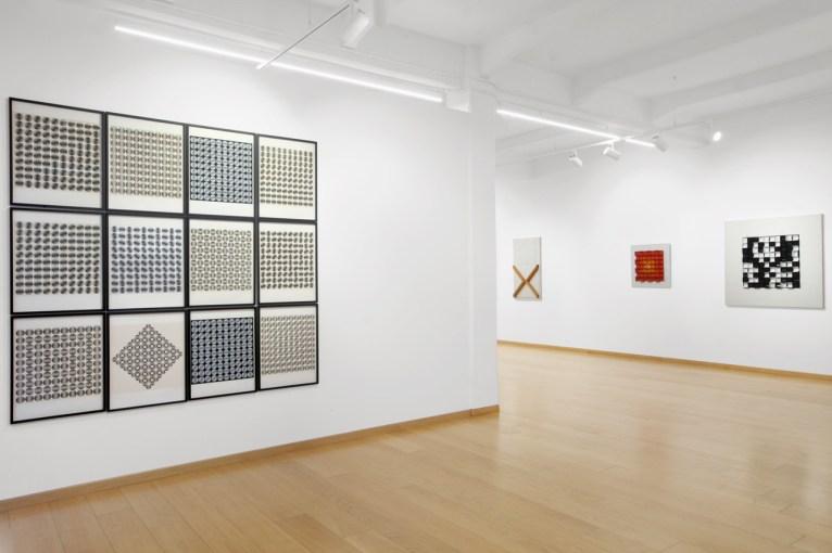 "Installation view: veduta della mostra ""Zagreb Calling. Ivan Picelj, Vjenceslav Richter and Julije Knifer"", Cortesi Gallery, Milano, 2019 | Photo: Bruno Bani | Courtesy Cortesi Gallery"