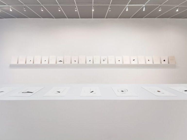 Noire Gallery: Veduta della mostra Scose by Paolo Icaro, Torino - 2019