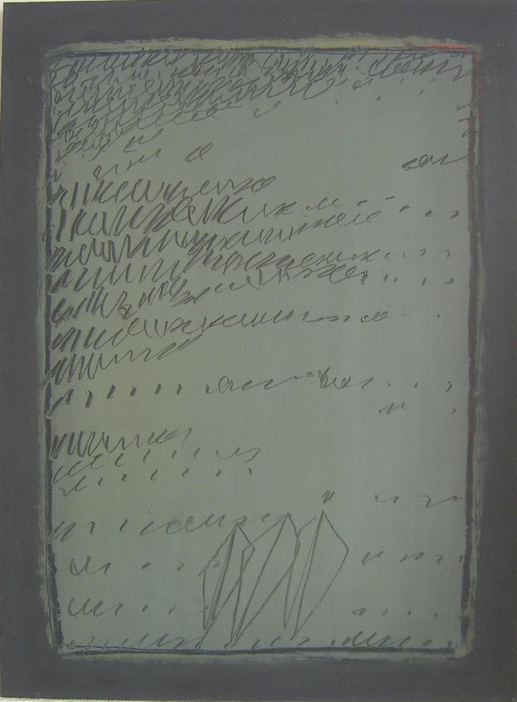 Agostino ferrari Racconto, 1963 - Tempera su carta intelata