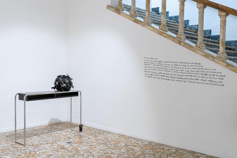 The Artist-Collector Dream Galleria  Continua San Gimignano Monica Bonvicini: Belts Ball (single), 2017