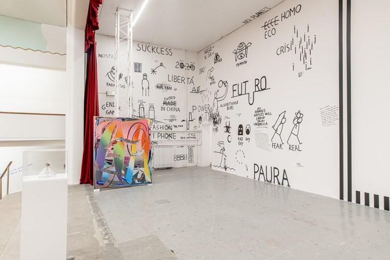Galleria Continua San Gimignano Dan Perjovschi: Untitled, 2020 - site-specific murals, variable dimensions