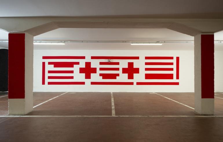Mimmo Paladino per Art Drive-In, Brescia 2020