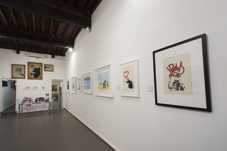 Collectors Night 2021: Banksy for sale, in Pietrasanta | Galleria Deodato Arte, Pietrasanta | ph. Giacomo Mozzi