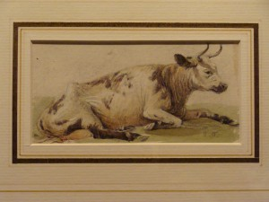 Cow at Rest watercolour by James Orrock