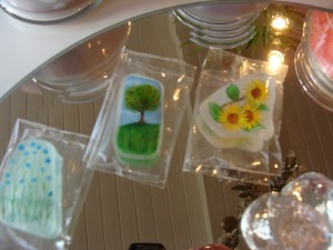 Miniature art on sea glass