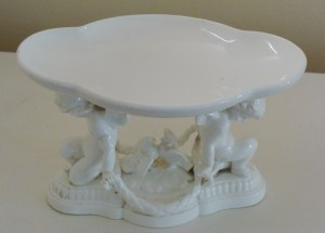 19th century Comport Two Cherubs fruit stand